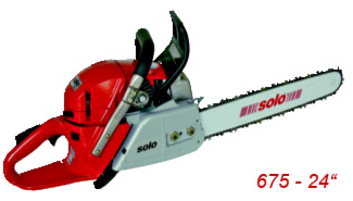 Professional chainsaw 675 24 inches